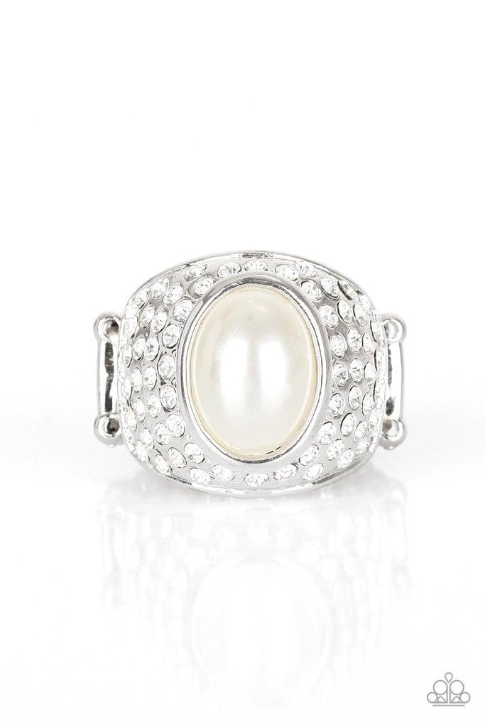 Glittering Go-Getter - White Ring