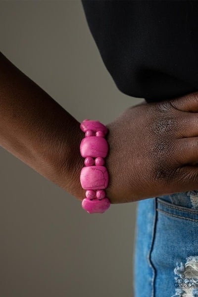 Dont Be So NOMADIC! - Pink Stretchy Bracelet