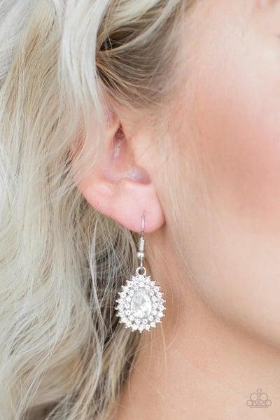Star-Crossed Starlet - White Earrings