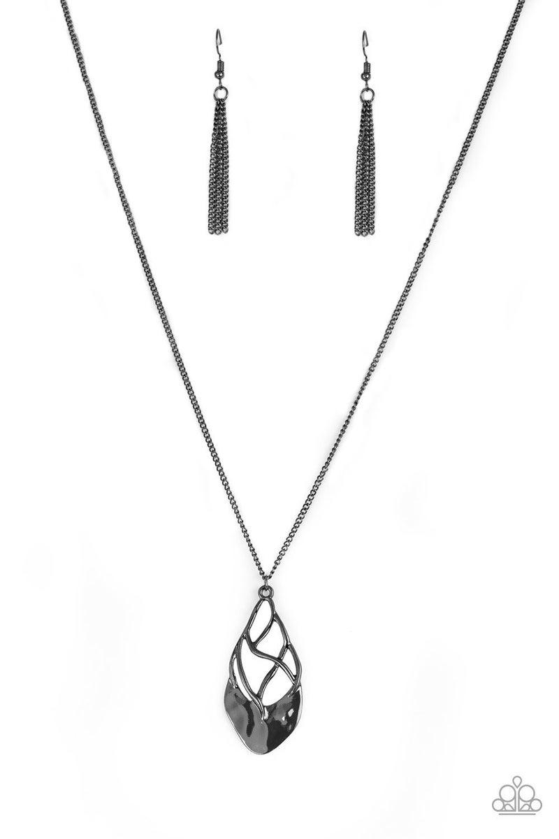 Swank Bank - Gunmetal Necklace
