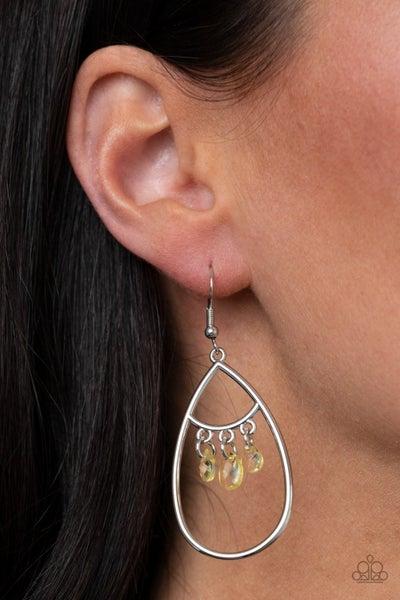Shimmer Advisory - Yellow Earrings