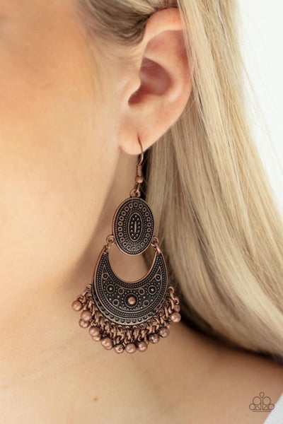 Western Trails - Copper Earrings