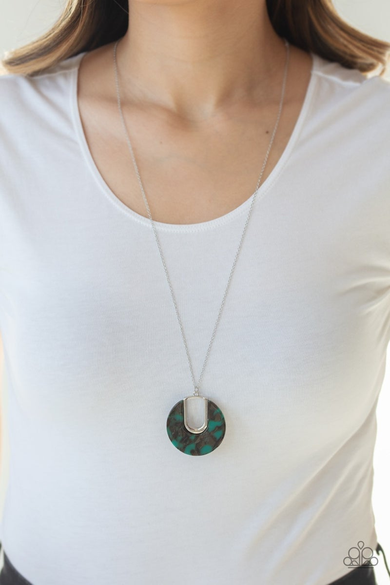 Setting The Fashion - Green Necklace