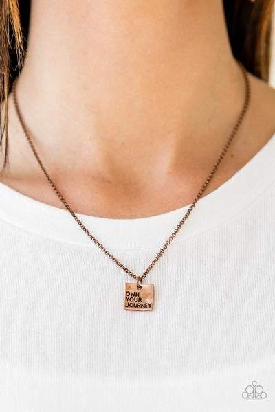 Own Your Journey - Copper Necklace