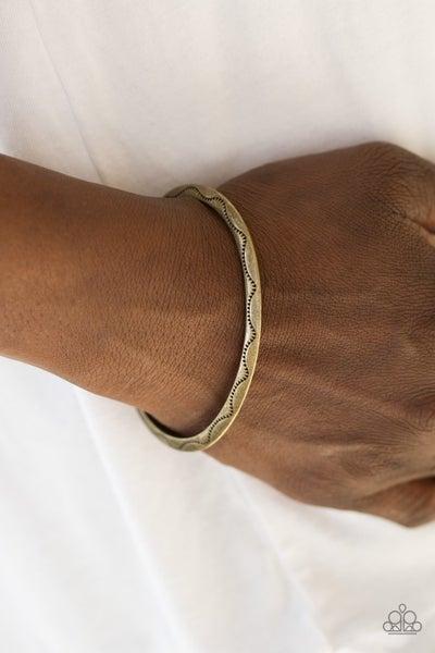 Desert Charmer - Brass Cuff