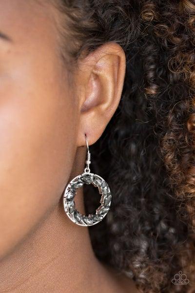 Global Glow - Silver Earrings