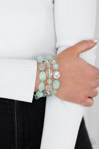 Oceanside Bliss - Green Stretchy Bracelet