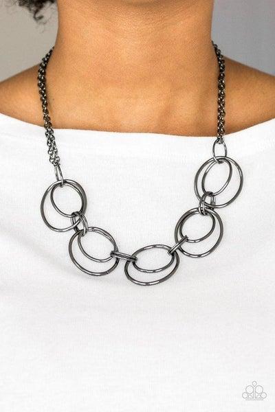 Urban Orbit - Gunmetal Necklace