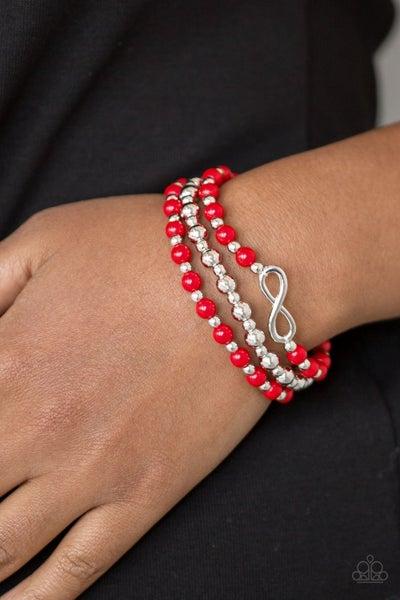 Immeasurably Infinite - Red Stretchy Bracelet