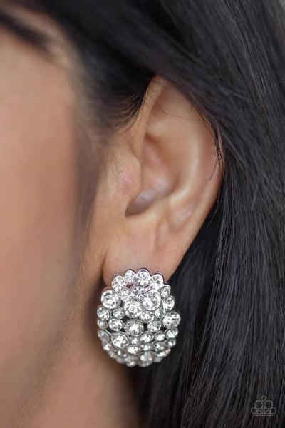 Daring Dazzle - White Earrings