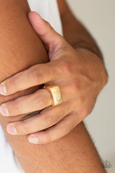 Straightforward - Gold Men's Ring