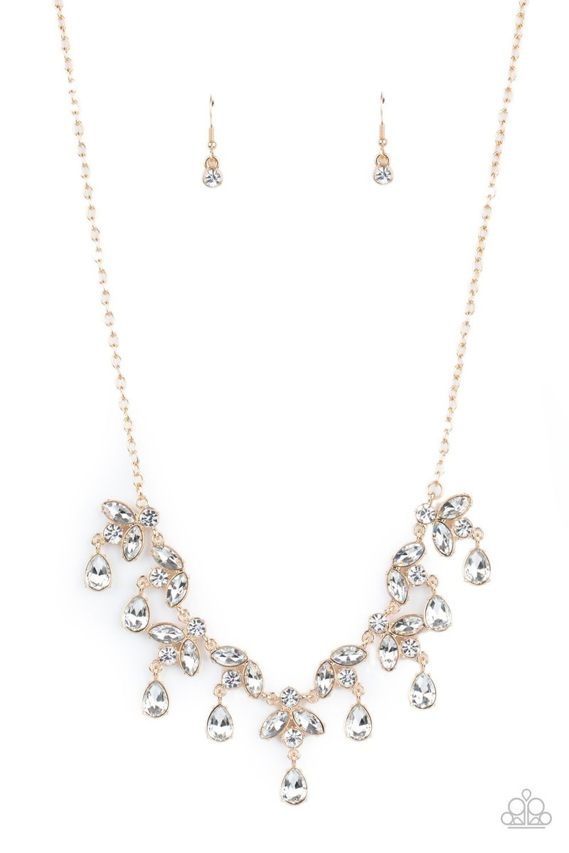 Vintage Royale - Gold Necklace - Life of the Party March 2021
