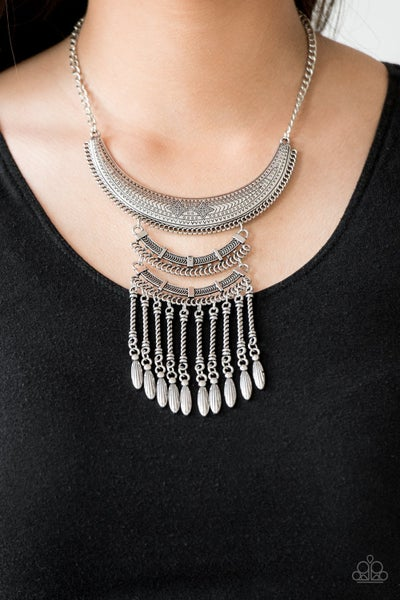 Eastern Empress - Silver Necklace