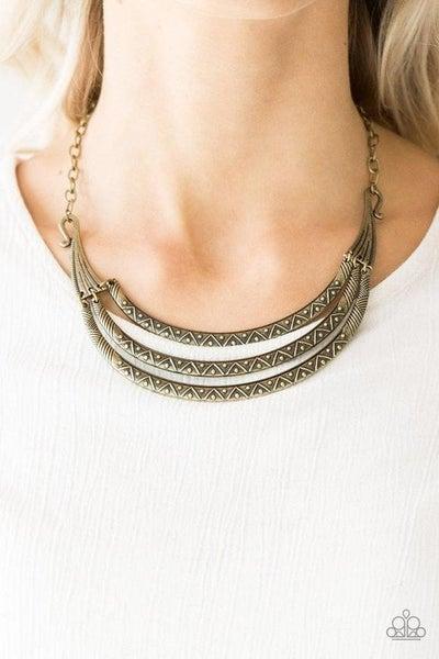 Primal Princess - Brass Necklace