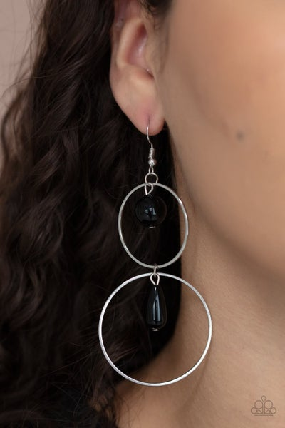 Cultured in Couture - Black Earrings