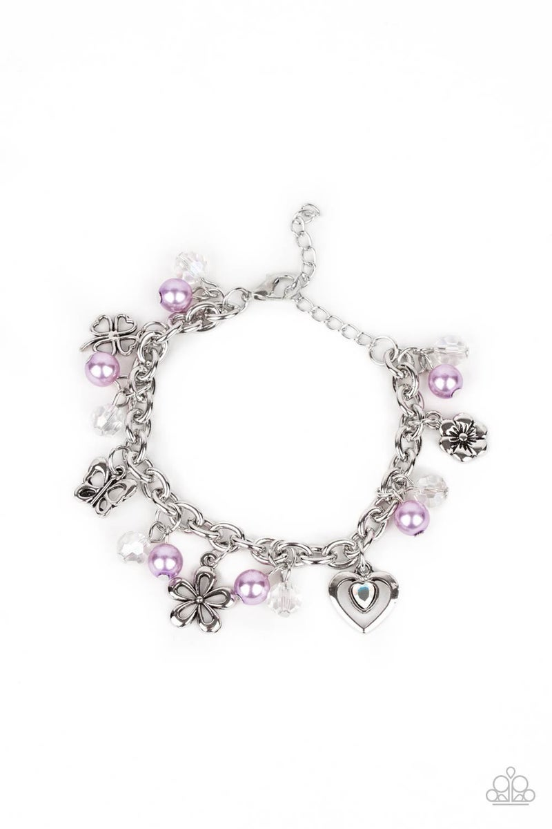 Retreat into Romance - Purple Clasp Bracelet