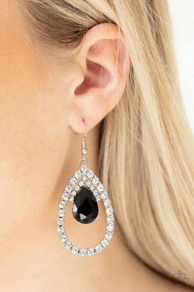 Trendsetting Twinkle - Black Earrings