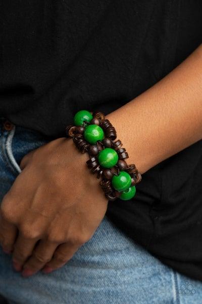 Tropical Temptations - Green Stretchy Bracelet