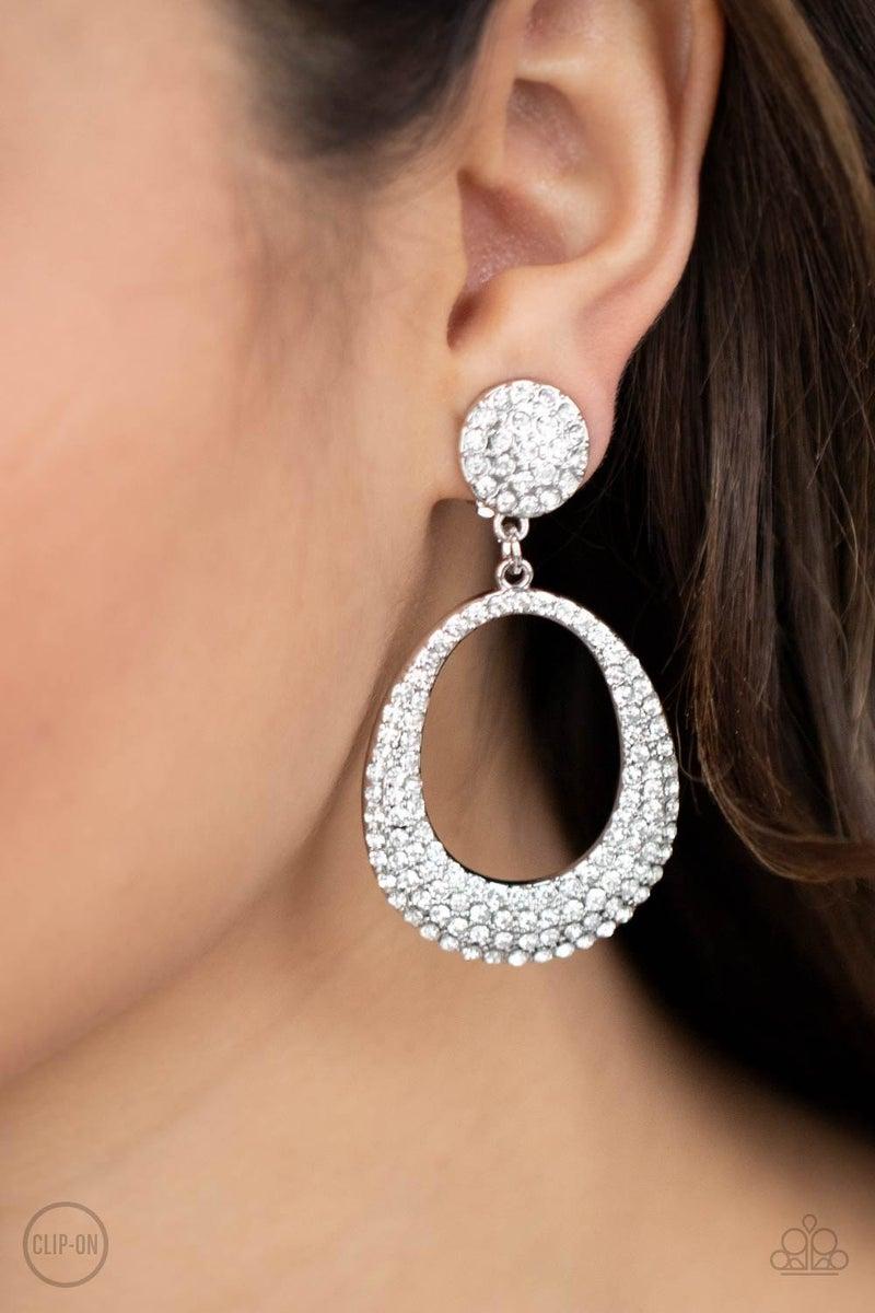 Sophisticated Smolder - White Earrings