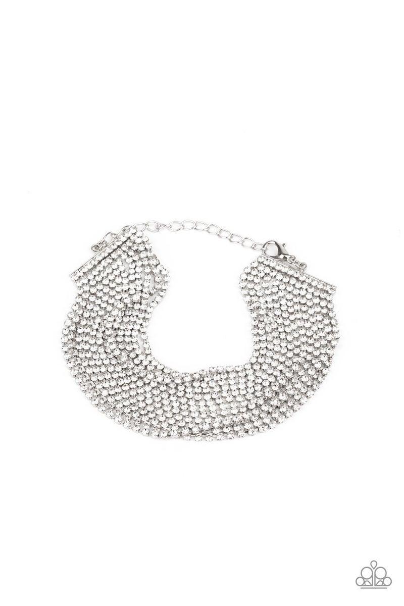 I Woke Up Like This - White Clasp Bracelet