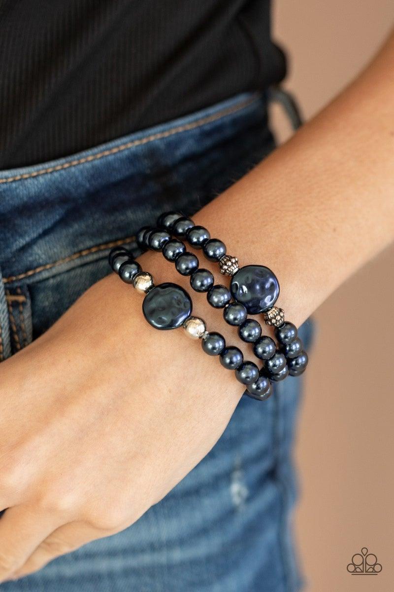 Exquisitely Elegant - Blue Stretchy Bracelet