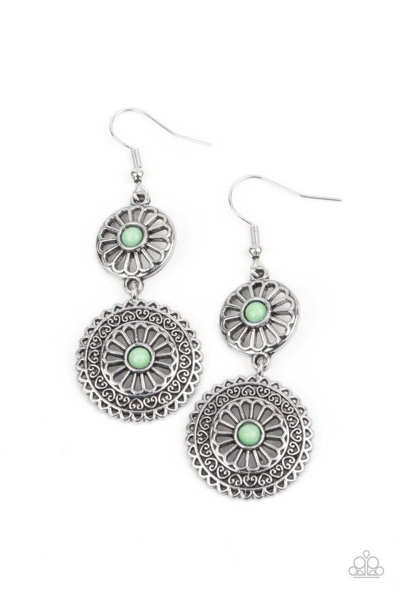 Keep It WHEEL - Green Earrings