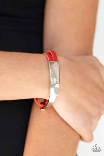 A Notch Above the Rest - Red Hinged Bracelet