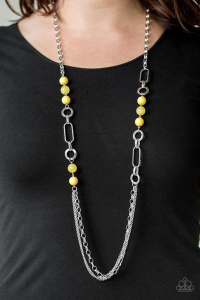 CACHE Me Out – Yellow Necklace