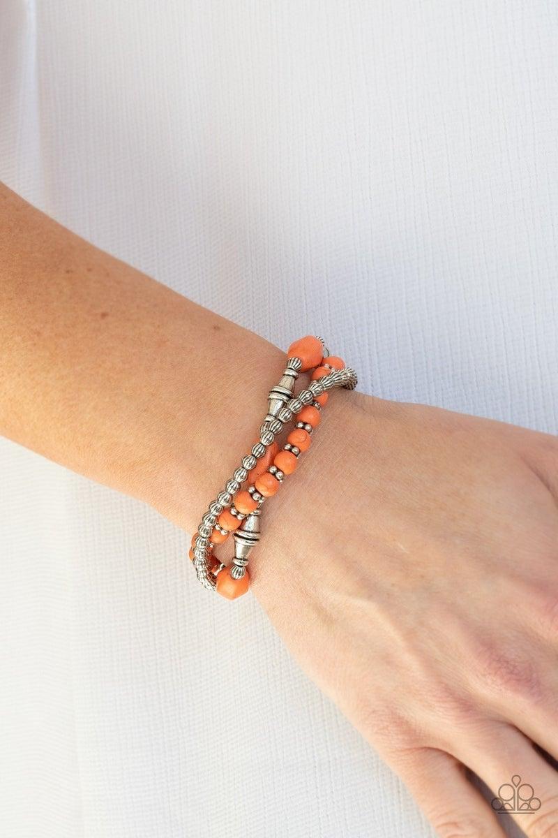 Sahara Sanctuary - Orange Stretchy Bracelet