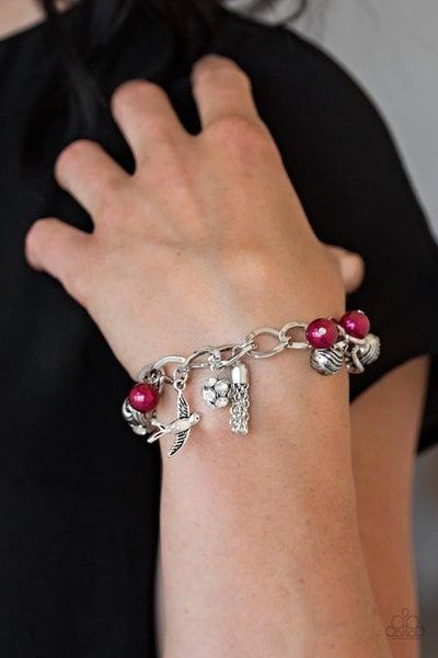 Lady Love Dove - Red Clasp Bracelet