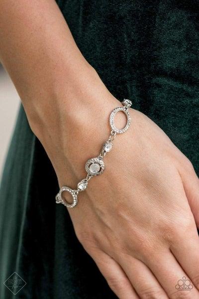 Wedding Day Demure - White Clap Bracelet