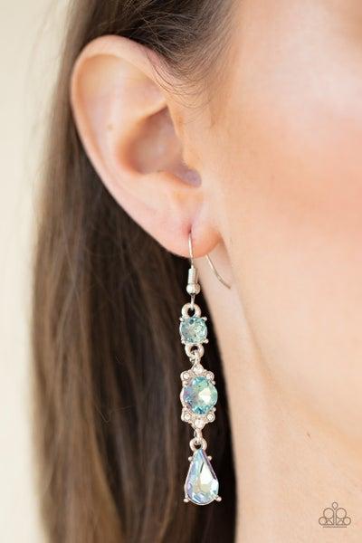 Outstanding Opulence - Blue Earrings