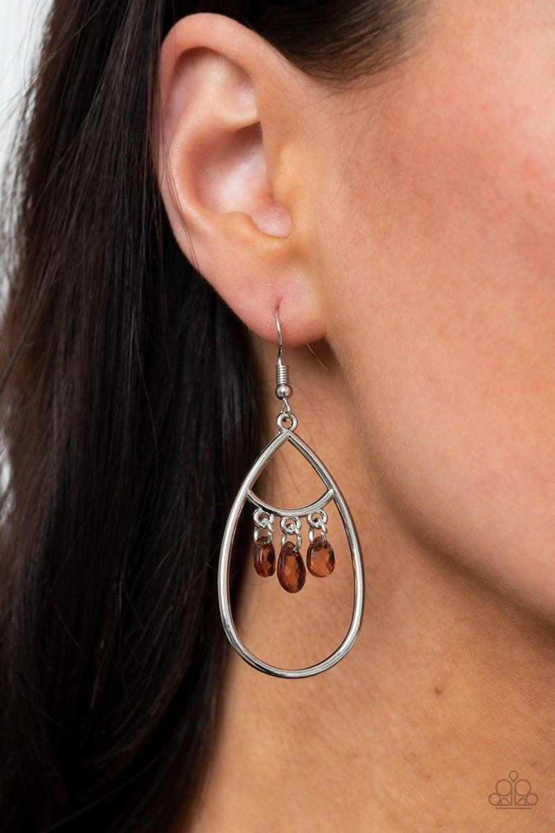 Shimmer Advisory - Brown Earrings