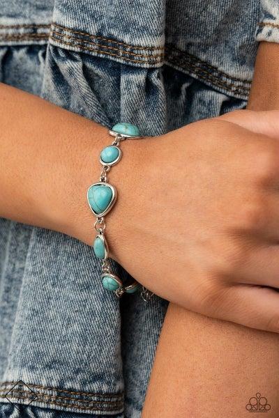 Eco-Friendly Fashionista - Blue Clasp Bracelet - March 2021 Fashion Fix