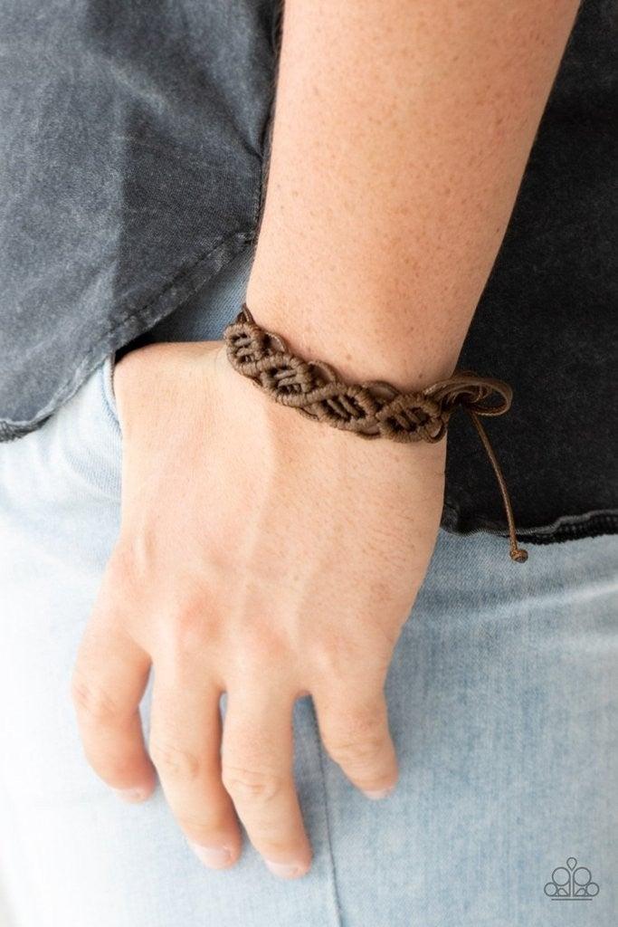 Boondocks and Bonfires - Brown Urban Bracelet