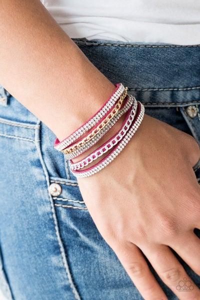 Fashion Fiend - Pink Snap Wrap
