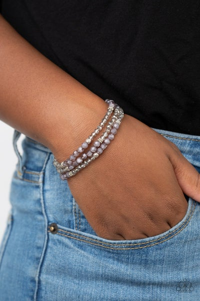 How Does Your Garden GLOW - Silver Stretchy Bracelet