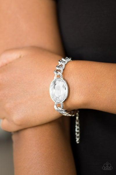 Luxury Lush - White Clasp Bracelet