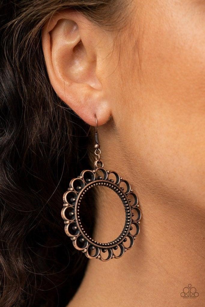 Sun Lounge - Copper Earrings