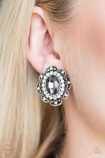 Dine and Dapper - Silver Clip-On Earrings