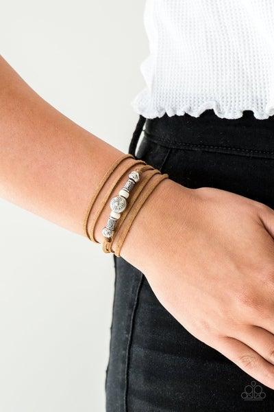 Find Your Way - White Bracelet