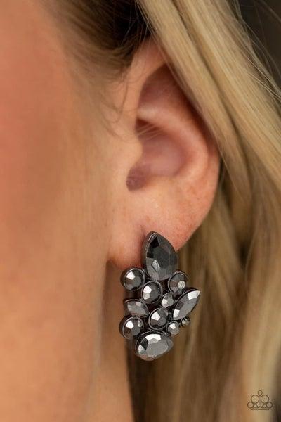 Galaxy Glimmer - Gunmetal Earrings