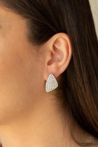 Supreme Sheen - White Earrings
