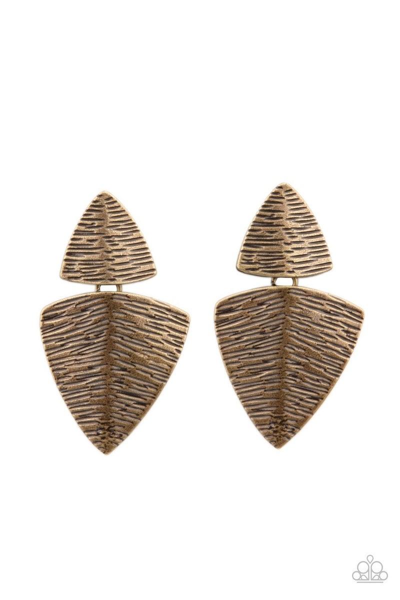 PRIMAL Factors - Brass Earrings