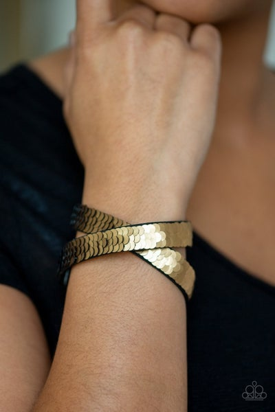 Under The SEQUINS - Gold Snap Wrap