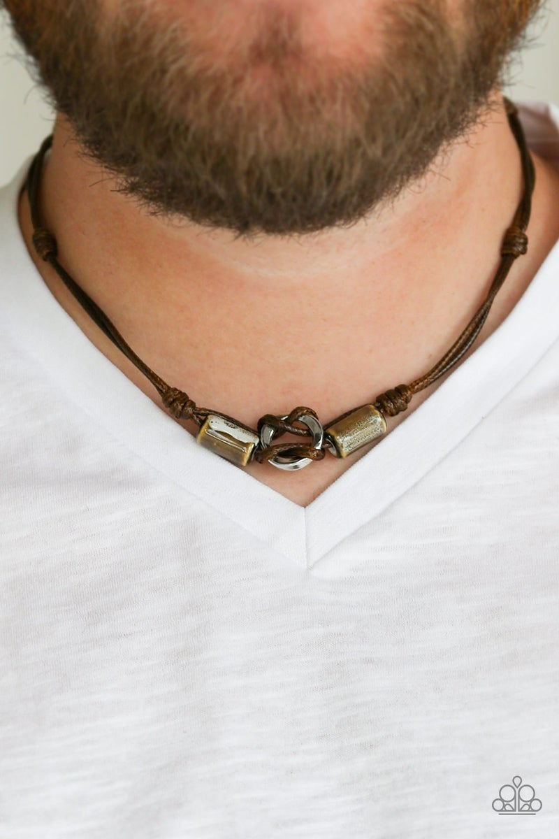 The Broncobuster - Brown Urban Necklace