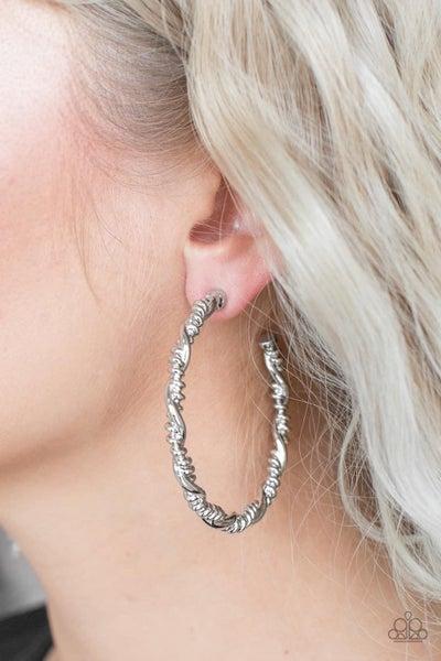 Street Mod - Silver Hoop Earrings