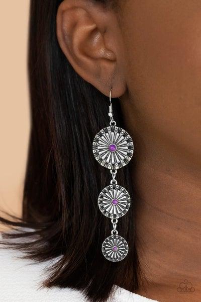 Festively Floral - Purple Earrings