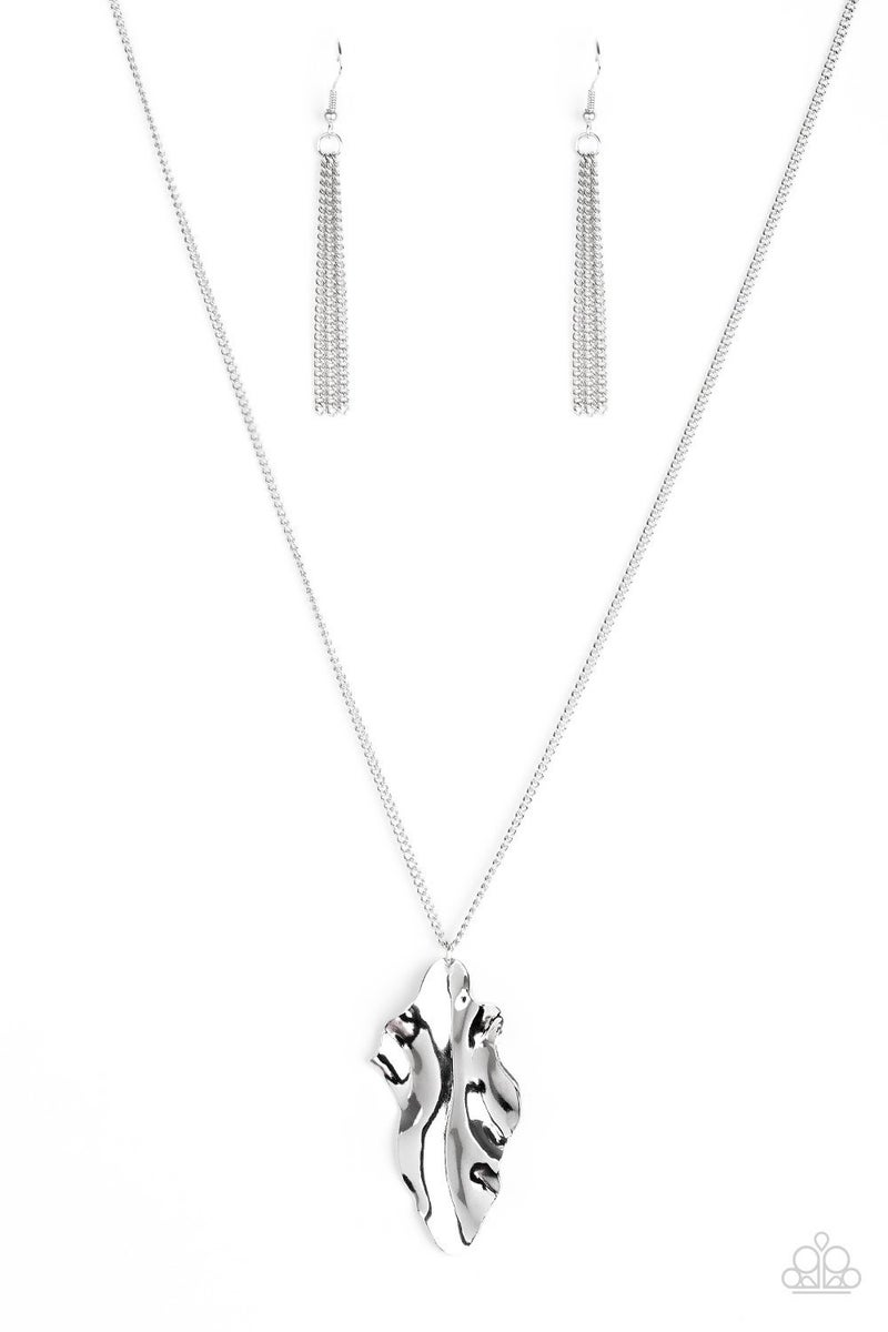 Fiercely Fall - Silver Necklace