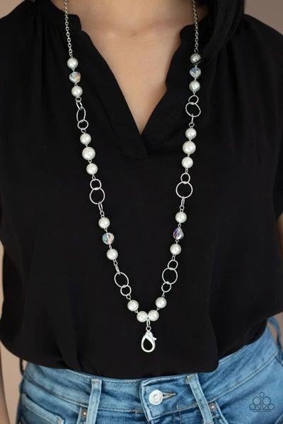 Prized Pearls - White Lanyard